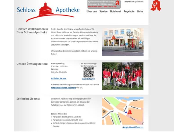 Referenz Schloßapotheke Eschwege - Screenshot 3