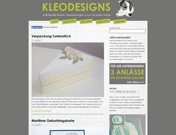 Referenz Kleodesigns - Screenshot 3